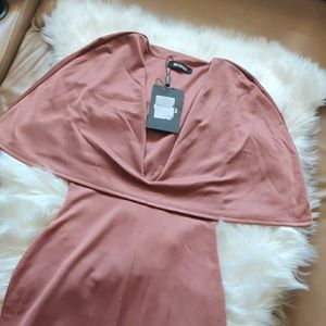 MISSGUIDED deep v fitted dress